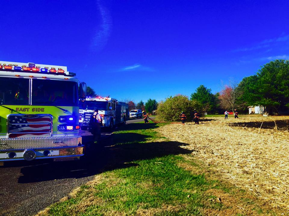 On November 25th, 2017, East Side responded to a two acre cornfield fire off Frank Scott Parkway and Old Collinsville Road.  Fairview Fire Department, O'Fallon Fire Rescue, and  Swansea Fire Department  also responded to provide mutual aid.