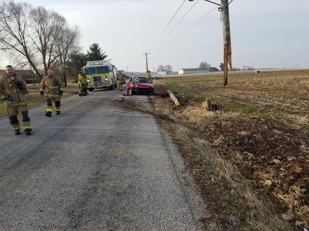 On March 10, 2019, East side responded for a vehicle vs. a utility pole.