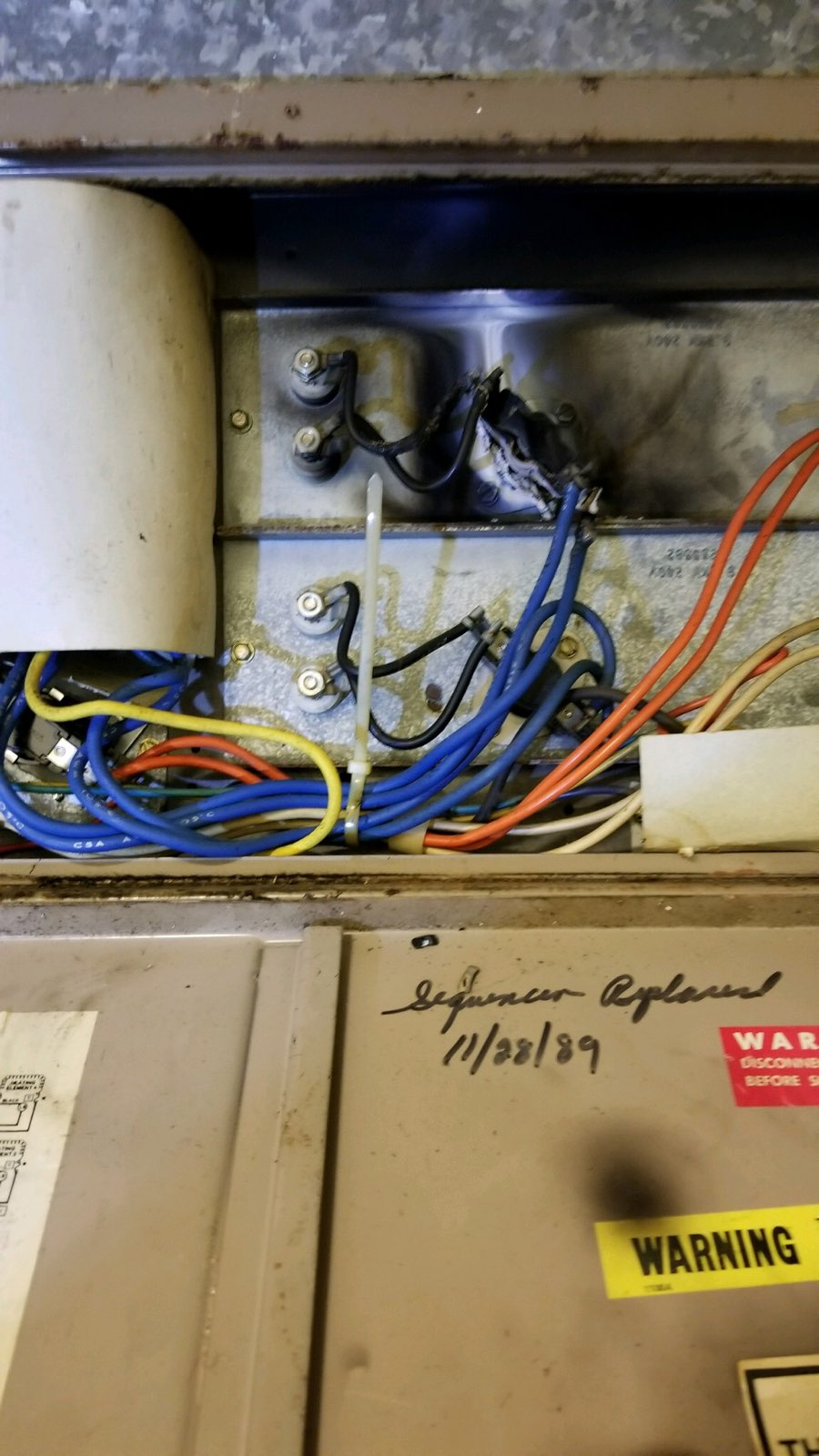 On 03/31/19, East Side Firefighters responded for a furnace on fire. Firefighters located an electrical component that burned up. The furnace filter was also almost completely blocked.