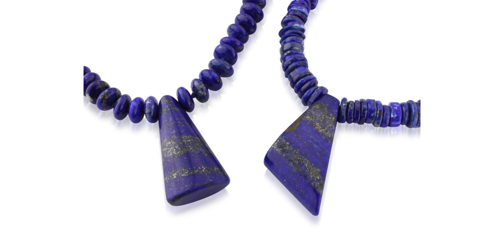 Lapis lazuli necklaces with lapis lazuli pendants