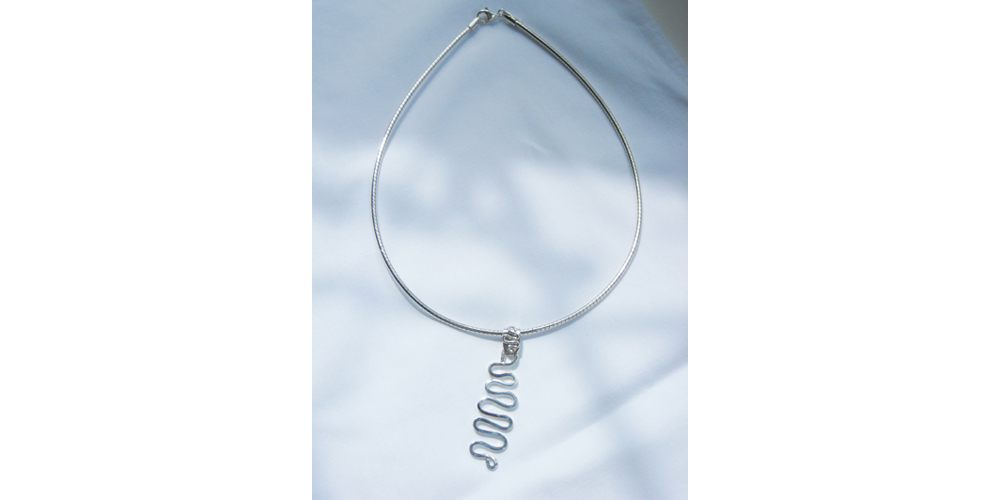 Looped Silver Pendant Necklace
