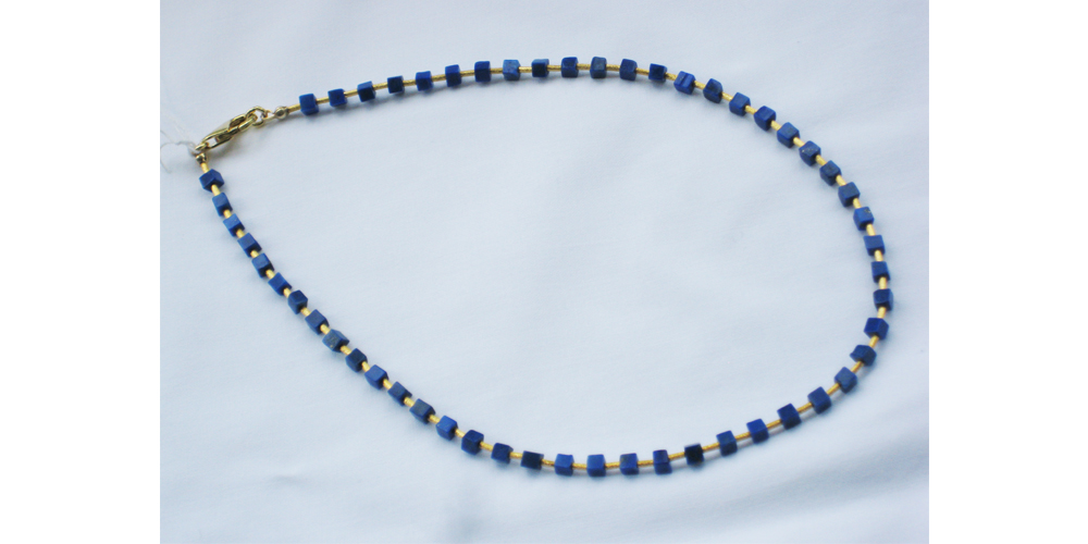Lapis and Gold Plated Necklace