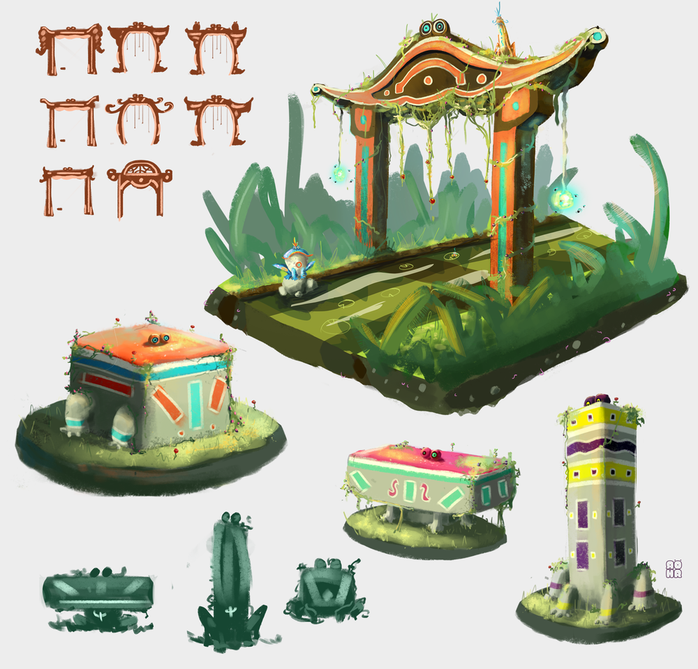 Frog-Shrines_Statues-Colored