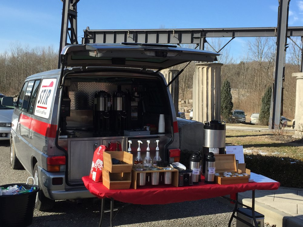 STIR Mobile Coffee at The Woolery Market, now called The Stone Mill Market