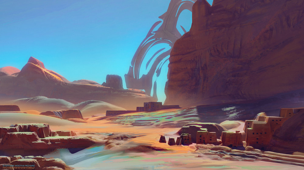 Environment sketch from thumbnail