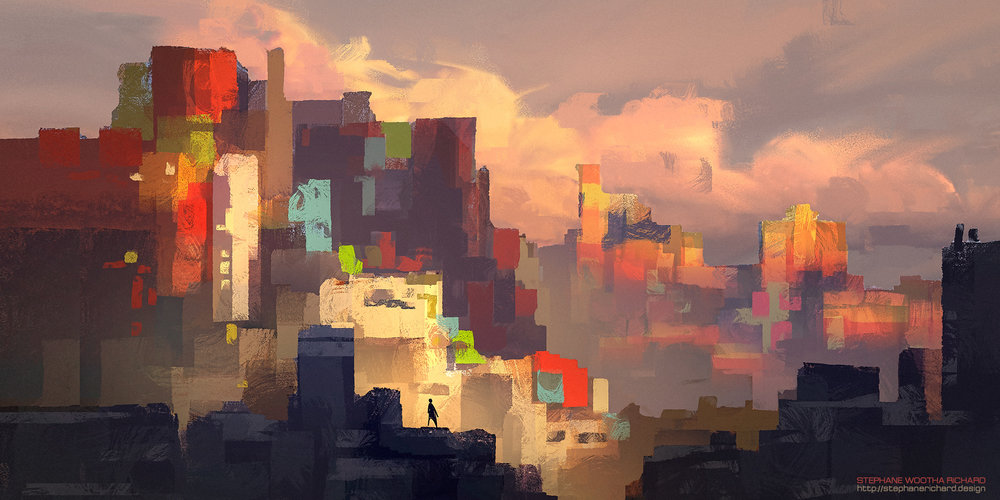 Sketching light and color