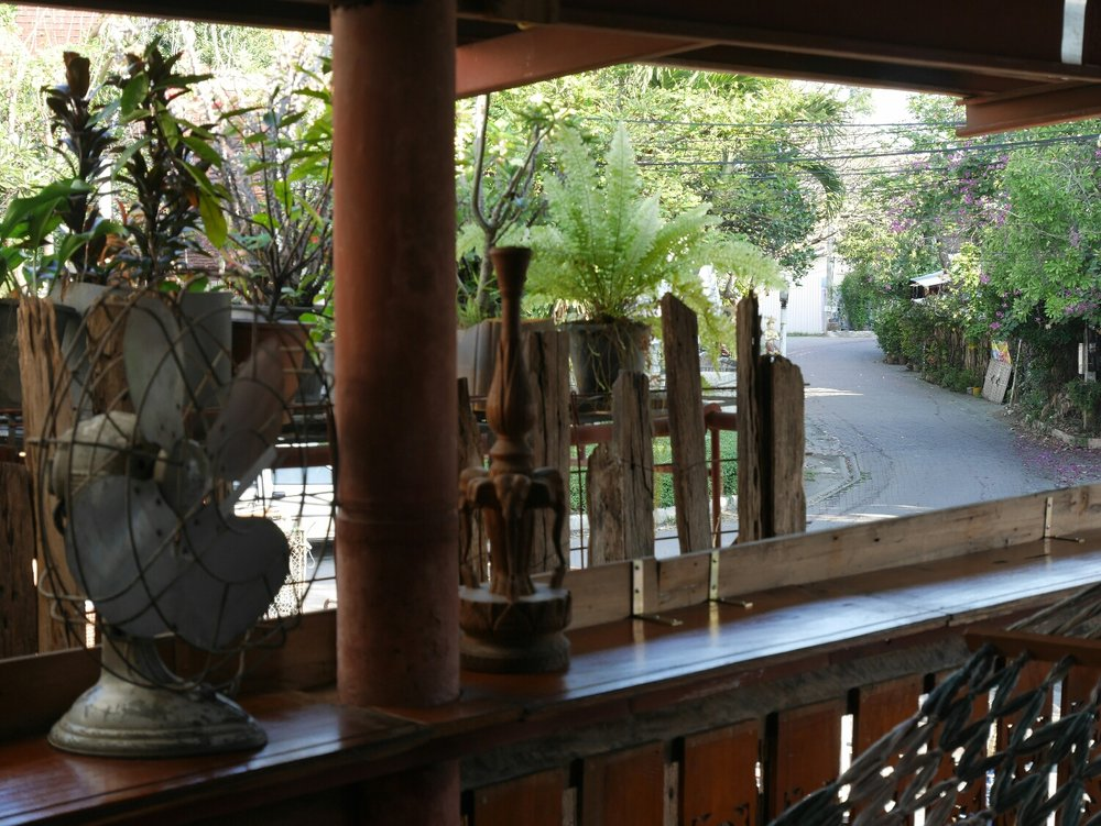 The wooden guesthouse in Chiang Mai
