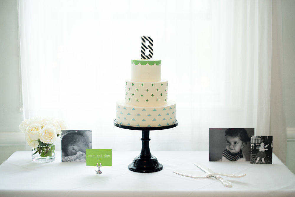 Betsy from   Ninecakes   made this amazing cake and incorporated our decor elements.