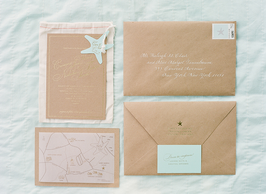 Gold foil stamped on duplex kraft paper with gold gilded edging.