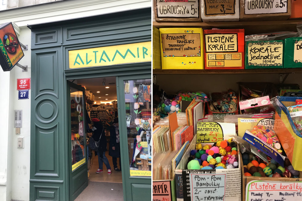 Altamira art store  - small but full of fun treasures. I got one too many crepe paper rolls here!