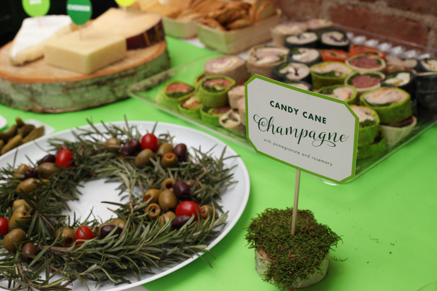 Store bought appetizers and snacks styled on cute platters and with signage makes all the difference.