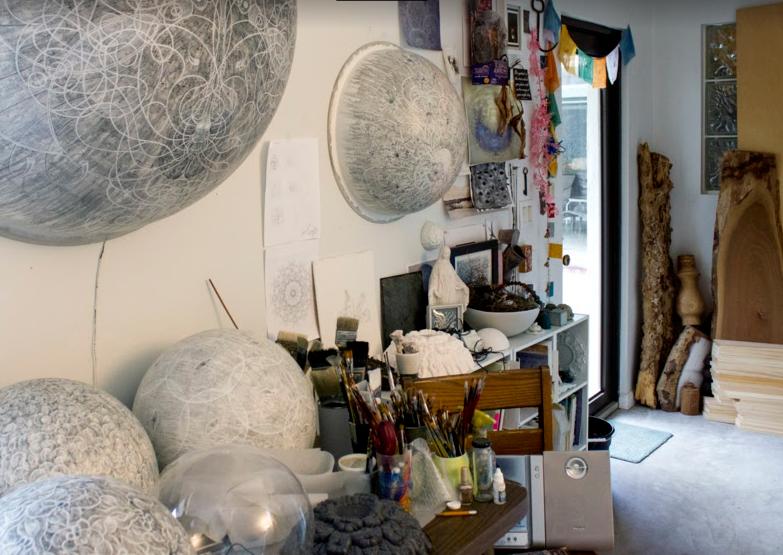 Carol Prusa's studio.