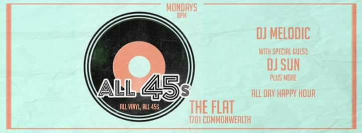 Welcome to  #all45s  with resident dj sunand dj melodic 8pm-2am  A day dedicated to all day happy hour and vinyl     #happyhour   #mondays  4pm-2am  $2 Lone Star  $3 Select Beers  $4 Frozen Mojito  $5 Frozen Pina Colada  $5 Frozen Sangria  $2 151 Floater (on all frozen drinks)  $5 Premium Wells  $2 Off All Specialty Cocktails, Coffee Cocktails, Wines by the glass and Draught Beers)   Monday :  (All Day) Happy Hour 4pm-2am (Pizza's ½ off 4-7pm on Monday)      #happyhour  #mondaynight   #houstonhappyhour   #htx   #houston  #houstonspots   #houstonbar   #houstonlounge   #houstonnightlife  #montrosehouston   #montrose   #htxmontrose   #djs   #houstonmusic  #houstonchillspot   #houstonpatio   #drinkspecials