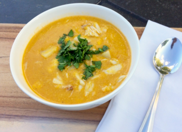 Thai Style Crab and Corn Chowder