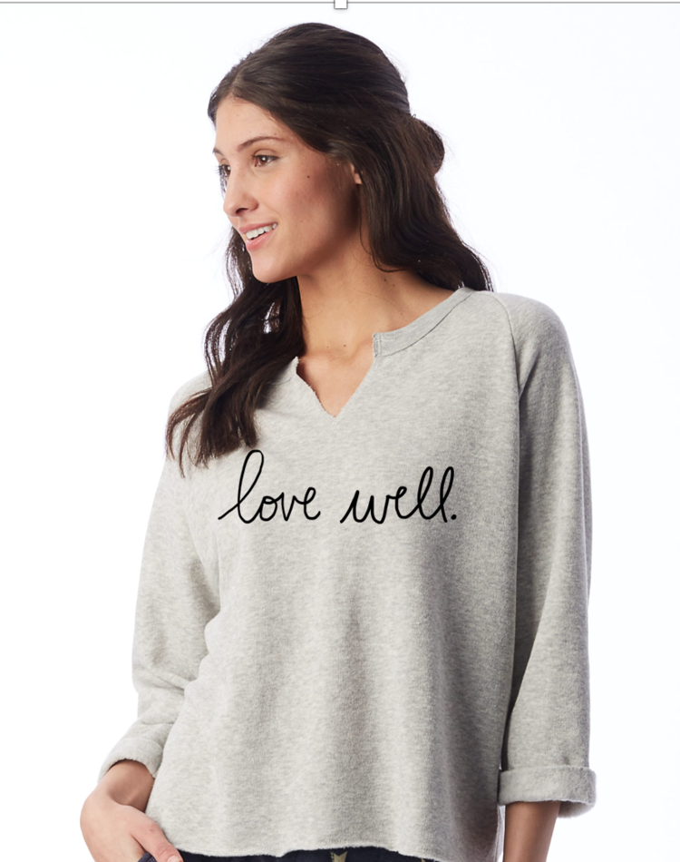 deb8b09a Ladies Oatmeal Grey Sweatshirt- Remix Comfy!