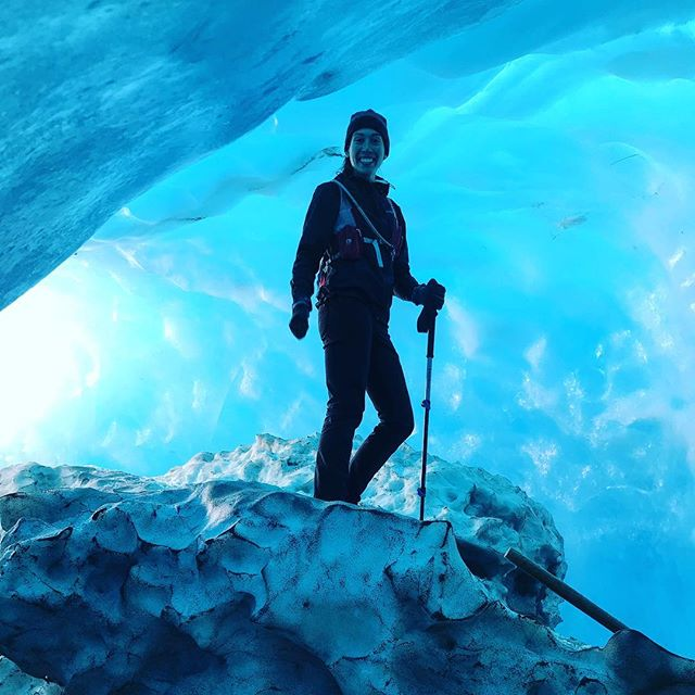 Pure joy today exploring epic ice caves in Tasman Glacier at Mount Cook National Park. First time in a helicopter, using crampons, and drinking glacier water from the source. Definitely referenced Ice Age movies when asking our guide Tom questions (#facepalm). Put this one on your bucket list 💯👍!