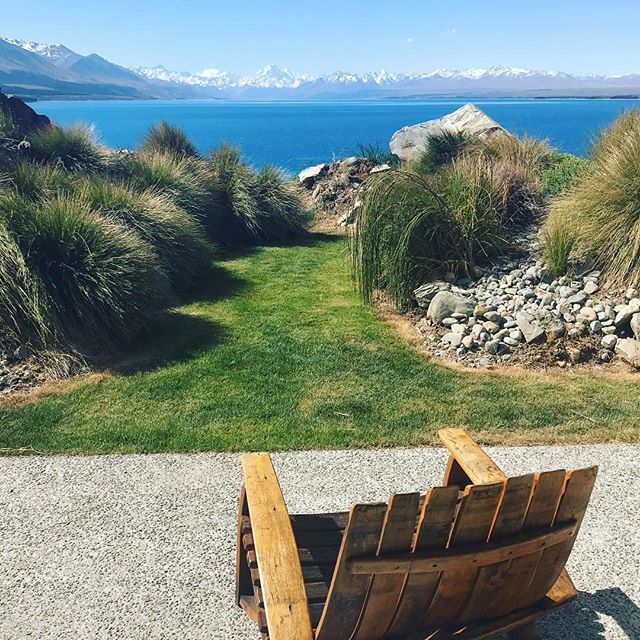 A room with a view. Enjoying clear skies, Lake Pukaki, and Mount Cook from our amazing place at @lakestone_lodge. Thanks @mlockfort and @jefffortner for basically planning the second half of our #honeymoon in NZ. 👍