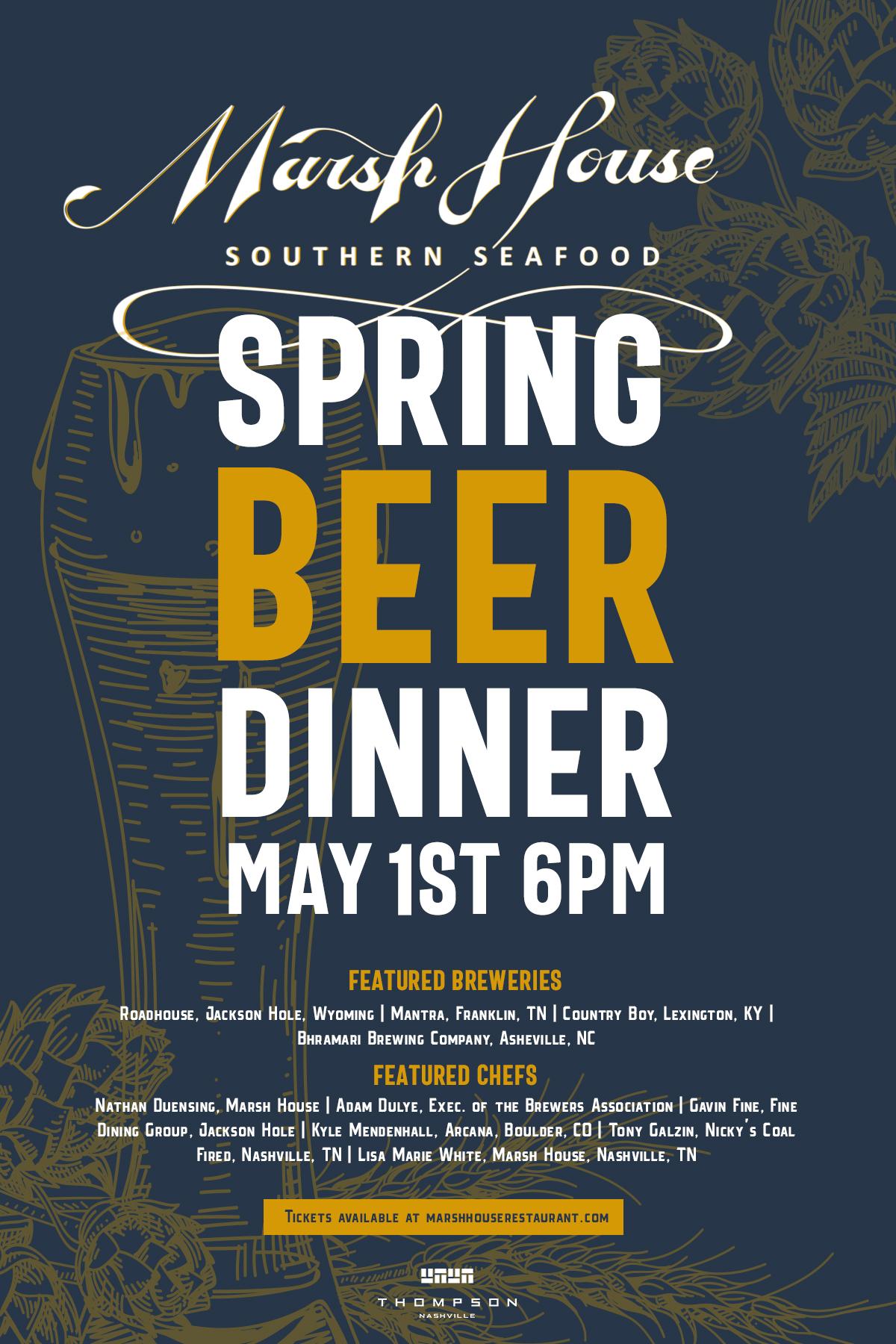 Spring Beer Dinner — Marsh House