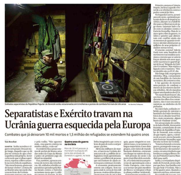 Ucranianos seguem a combater e a morrer na última guerra esquecida da Europa
