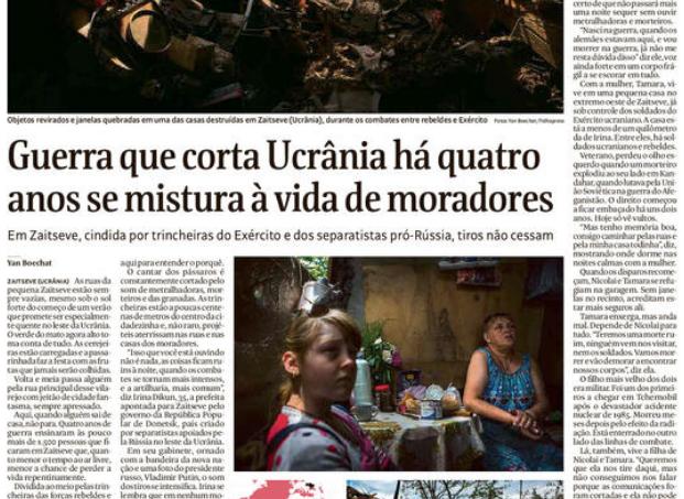 A vida dividida por trincheiras, snipers e bombardeios diários no Leste da Ucrânia