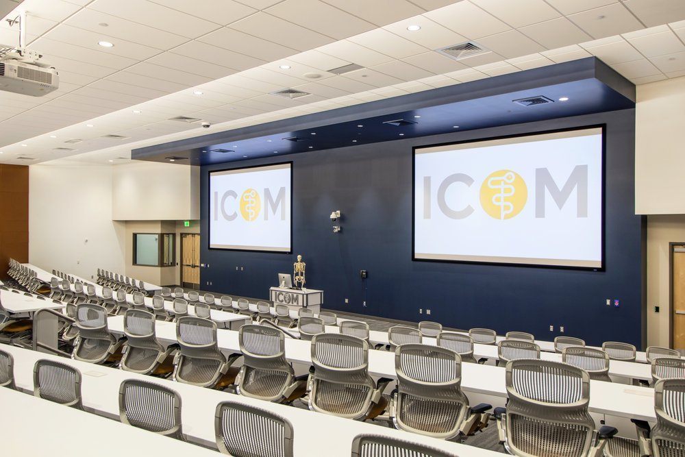 Lecture Halls  - 2 Lecture Halls each 4620 sq ft with seeing for 250. with High definition projectors which students can access through Apple TVs.