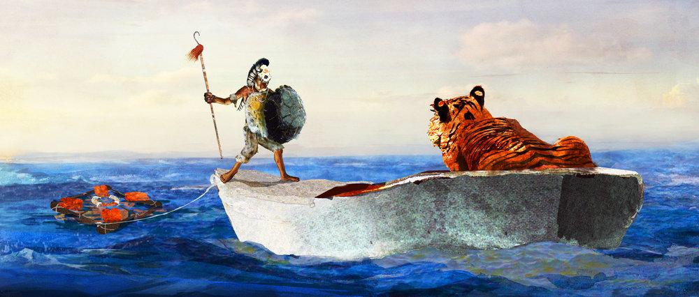 Illustration: Pi and Richard Parker