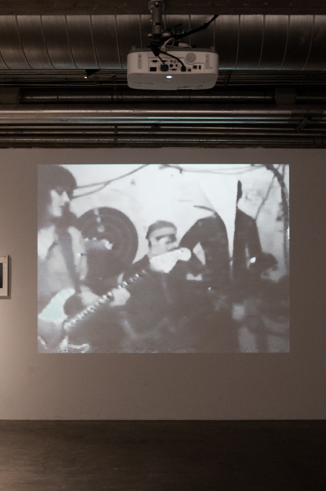 Live concert footage from Mydolls' band archive presented at CAMH. Photo: Max Fields