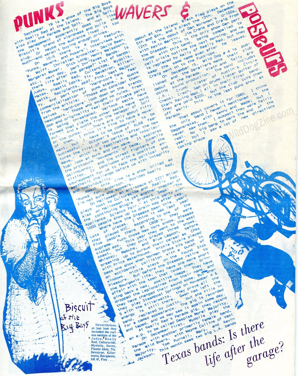 ORIGINAL ZINE IMAGES COURTESY OF   WILD DOG ARCHIVES  .