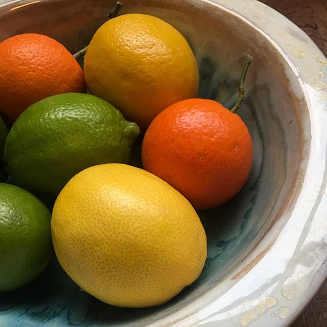 🍊🍋🍊Citrus is the silver lining of winter. Loving how they look in this beautiful ceramic bowl made by my cousin, @mariapolkyceramics . . . . . #tunisia #tunisie #tunisianfood #cuisinetunisienne #northafrica #yum #tunisianfruits #citrus #wintercitrus #vitaminc #healthyfood #tastetherainbow #citron #citronvert #mandarin #winterfruits #lemon #fruitsdhiver #lefooding #miam #bonappetit #food52 #saveur #etsyartist #ceramics #ceramicbowl #supportartists #supportsmallbusiness #🍊 #🍋