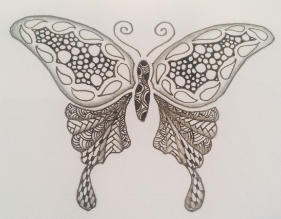 Zentangle by Nancy Dawes, CZT, Stencil, Tangles, Doodle