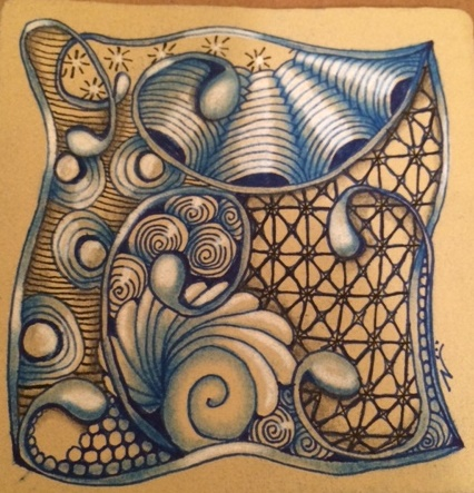 Zentangle, Doodling, Mooka, Crescent Moon, Nzepple, Printempts
