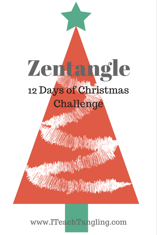 Zentangle, Doodle, 12 Days of Christmas, Christmas, Trees, Holiday, Drawing