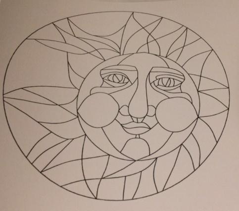 Zentangle, Template, Sun, Zendoodle, Doodling, Tangling