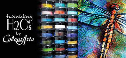 Zentangle, Twinking H2Os, Colourarte