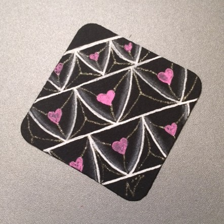Valentangle Day 6 - Heart Fragment - Black Bijou tile