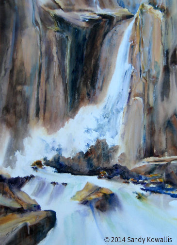 Lower Yosemite Falls - Giclee prints only