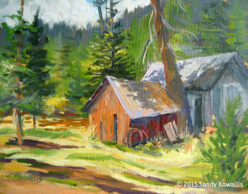 Cabin in the Sierra - oil 11 x 14