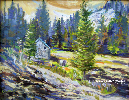 Beasore Meadows - oil 16 x 20