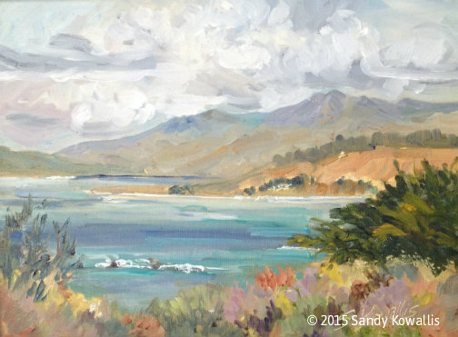View From San Simeon Park - oil 12 x 16