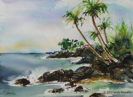 Kona Coast - watercolor 11 x 14