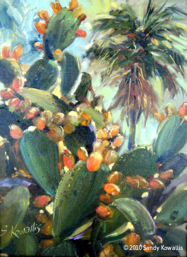 Prickly Pear Cactus - oil 12 x 16