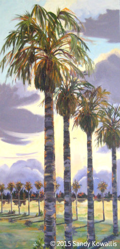 The Sentinels - oil 24 x 48