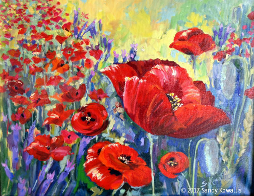 Dance of the Poppies - oil - 16 x 20