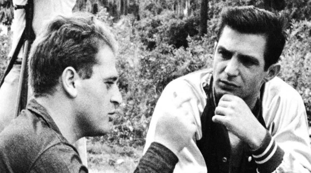 Garfein with Ben Gazzara on the set of The Strange One
