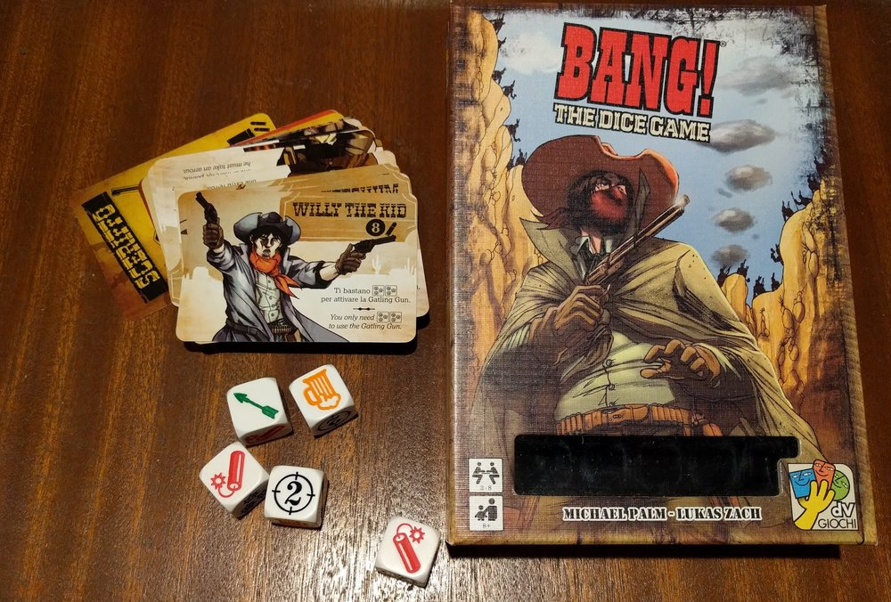BANG! The Dice Game a New Year's Eve board game recommendations