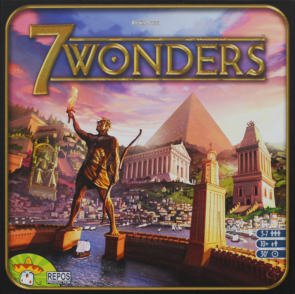 7 Wonders board game box cover art