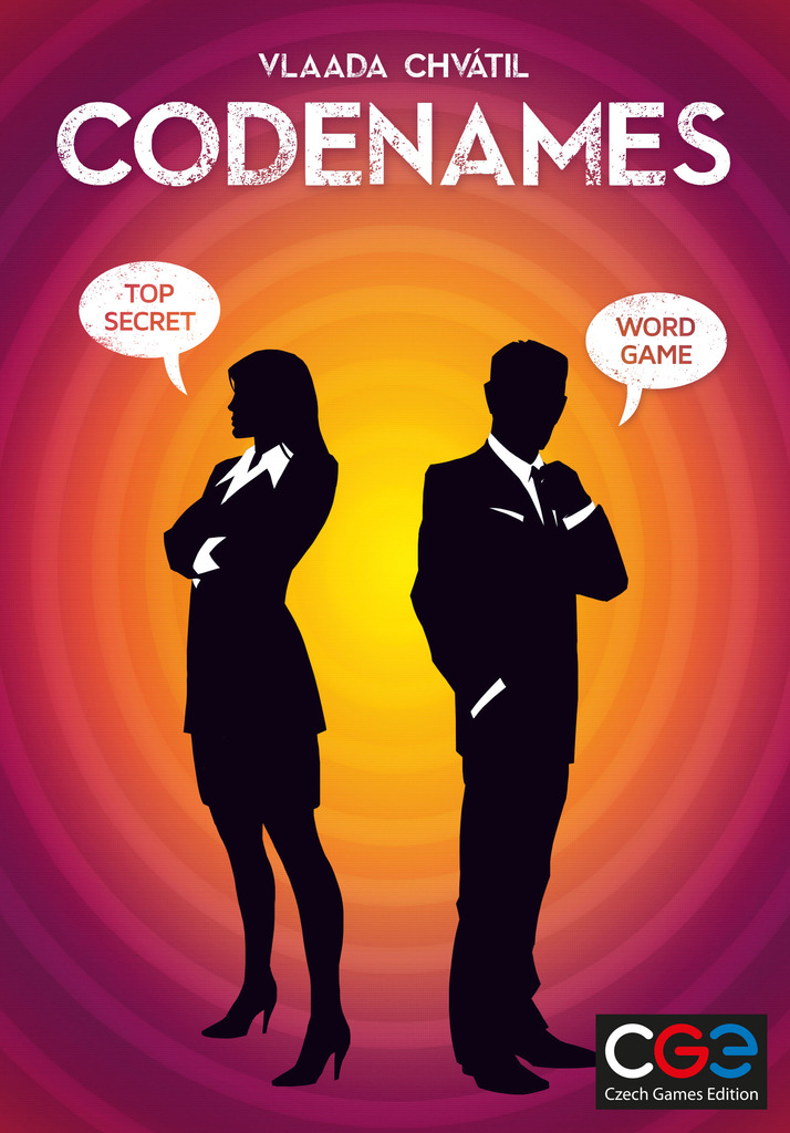 Codenames board game box cover art