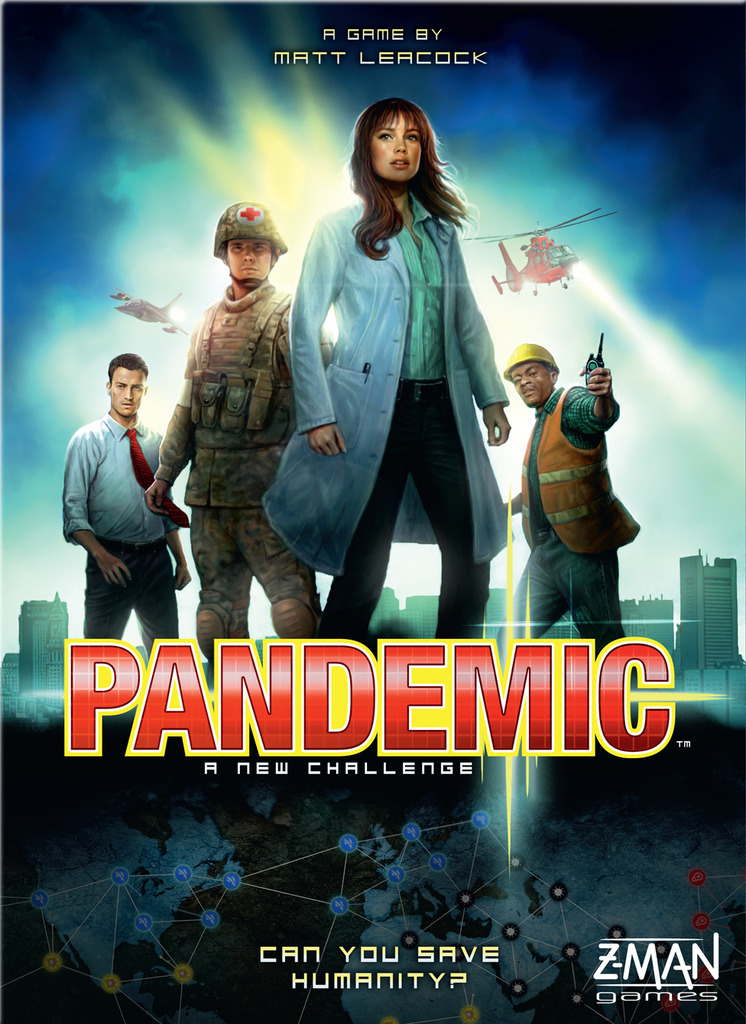 Pandemic board game box cover art