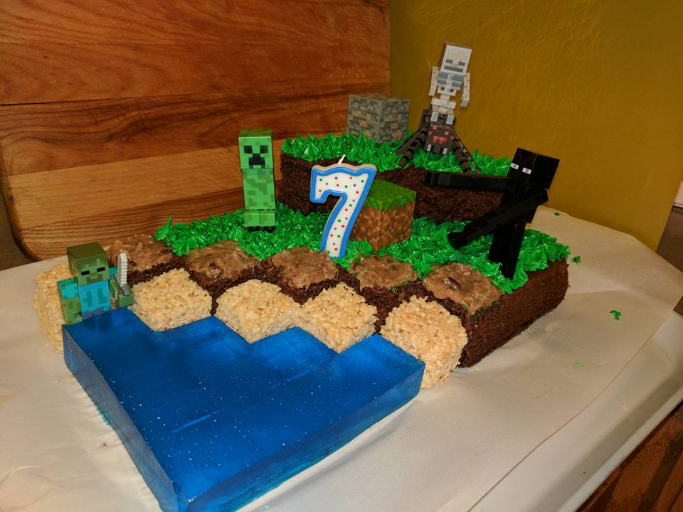 Minecraft Cake For My Nephews 7th Birthday Board Games Enhanced