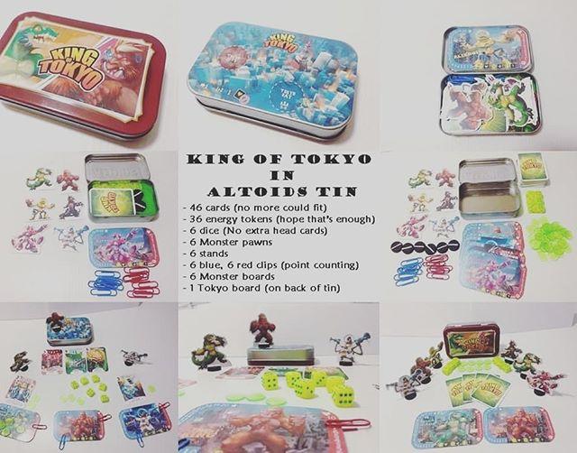 King of Tokyo in Altoids tin